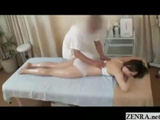 all hands on carnal oil massage with excited
