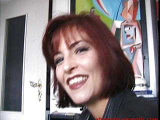 shy redhead mother i shows love melons after long