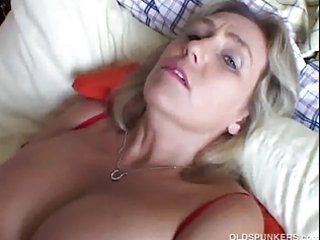 cute corpulent aged amateur has threesome lovely