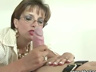 british aged domina is fond of gags