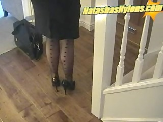 business boss with large tits in dark nylons