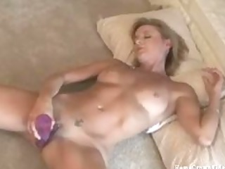 my hawt wife working her soaked pink cunt with