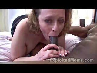 breasty mommy in amateur interracial movie scene