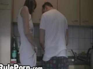 bored wife kitchen sex with her paramour