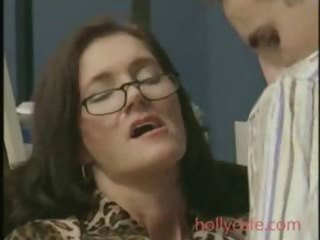 mature fucked in office brunette hair mature