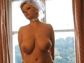 hawt blond milf bride photoshoot
