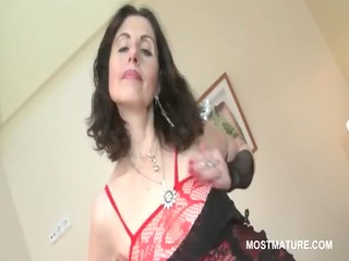 aged hoe in lingerie teasing sexy assets