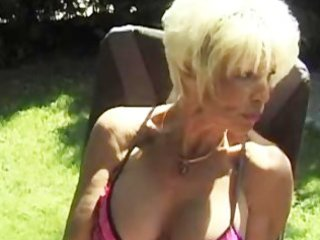 trio with aged busty women