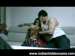 aged indian pair in lounge after party seducing