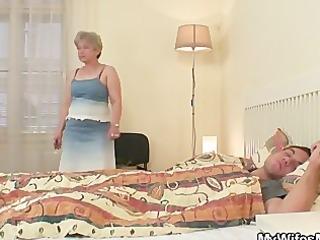 she is fucks her son in law as he sleeps