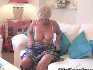 overweight grandma with large old love bubbles