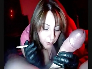 sexy d like to fuck in gloves smokin jerking and