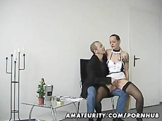 dilettante pair fucking with cumshot in mouth