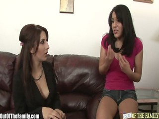 mamma teaches filthy daughter how to engulf a