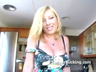 kitchen milf down to fuck with her large bazookas