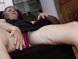 old grandma bonks younger lesbian babes