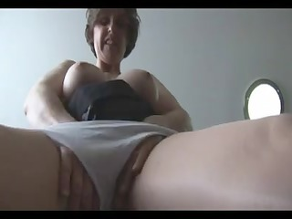 granny teases with her extra big boobs