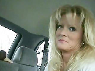 blond cougar smokey car bj