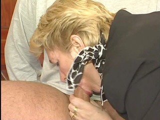 snooty mature businesswoman acquires nailed