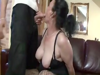 breasty black brown granny gets nasty cunt