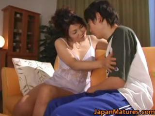 sexually excited japanese mature women sucking
