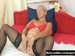 unsightly grandma cecilie toys her shaggy love