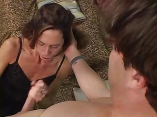 skinny mature dark brown sherry wyne receives her
