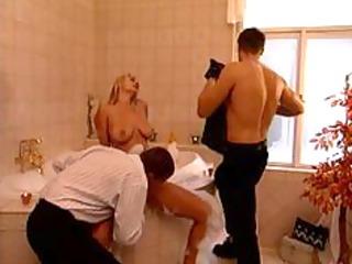 milf with 6 men in bath