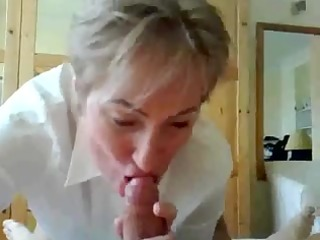 older teacher giving orall-service and squirting