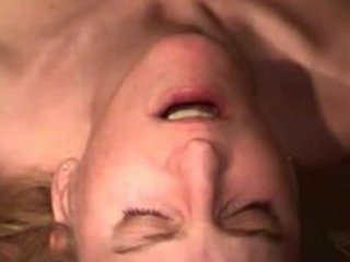 blonde wife gets her mouth screwed and cummed