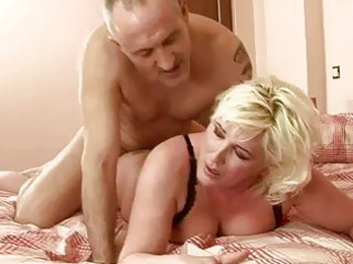 breasty overweight grandma gets drilled hard