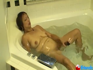mature asian has loud orgasm