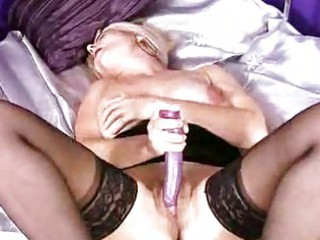 aged blond solo foreplay
