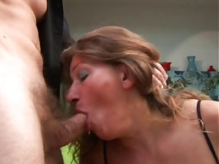 aged acquires her wazoo screwed and cum on her