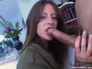 aged gal liza receives his creamy cock juice on