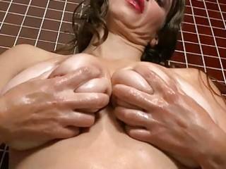 lusty big breasted mother i wench masturbates