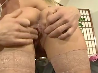 sexy german mommy fucking on the ottoman