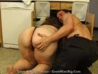 fatty mature mamma with a large gazoo seducing a