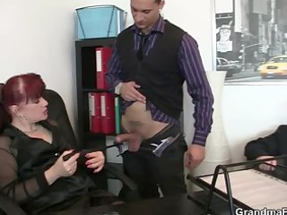 fortunate guys group-sex business woman