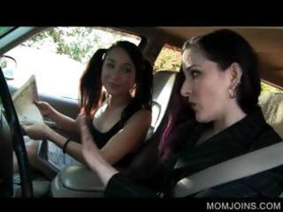 hot mamma and daughter talked into fucking