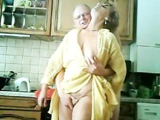 my grandparents have pleasure in the kitchen