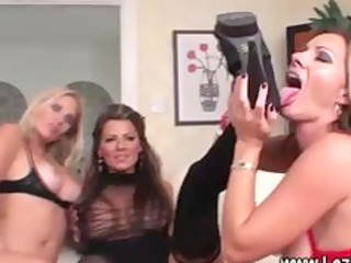 lesbo trio play with toys