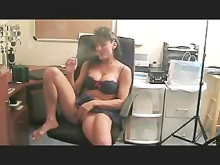 sexy babe smokes and plays with her snatch