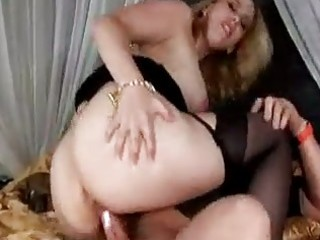 breasty milf in stockings craves threesome