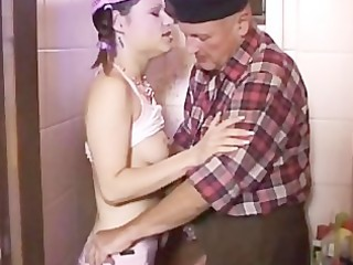 old dude fucks his own stepdaughter