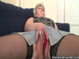 old bitch takes cocks after masturbation