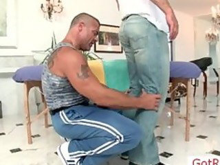 muscled aged guy acquires massaged part8