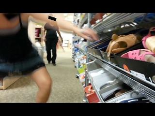 upskirt at department store
