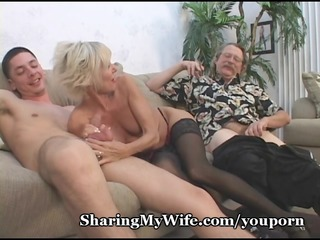mature pair in 1some sex game