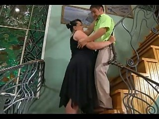 large fat milf seduces cute chap to fuck her